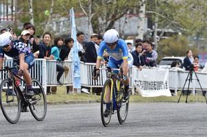 女子優勝 今井美穂(群馬 CO2 bicycle)